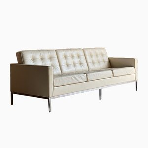 Leather 3-Seater Relax Sofa by Florence Knoll Bassett for Knoll Inc. / Knoll International, 2000s
