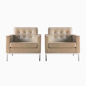 Leather Relax Armchairs by Florence Knoll Bassett for Knoll Inc. / Knoll International, 2000s, Set of 2