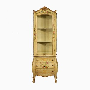 Italian Lacquered, Gilded, and Painted Display Cabinet, 1960s