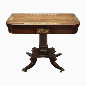 Regency Rosewood Game Table Attributed to John McLean, 1810s