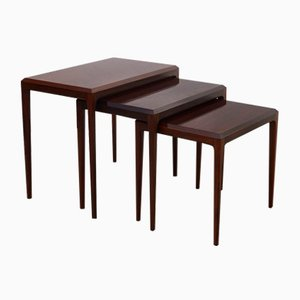 Mid-Century Rosewood Nesting Tables by Johannes Andersen for CFC Silkeborg