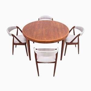 Teak Dining Table & Chairs Set by Johannes Andersen, 1960s, Set of 5