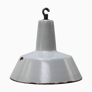 Lampada a sospensione vintage industriale grigia di Philips, anni '50