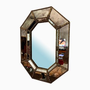 French Octagonal Mirror, 1970s