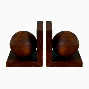 Art Deco Sphere Bookends, 1920s, Set of 2