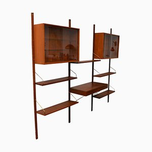 Vintage Danish Teak Wall Unit System by Poul Cadovius for Cado, Set of 12