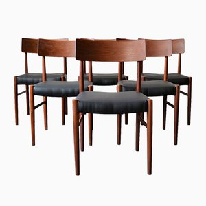 Vintage Danish Teak Dining Chairs, Set of 6