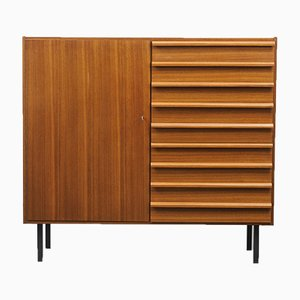 Walnut High Chest of Drawers, 1960s