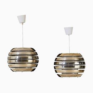 Lampade da soffitto vintage di Carl Thore / Sigurd Lindkvist per Granhaga Metallindustri, Svezia, set di 2