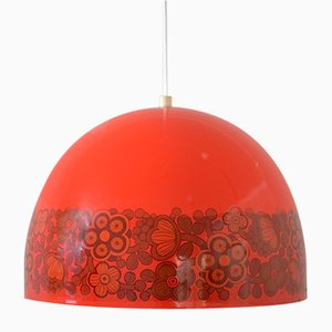 Enameled Ceiling Lamp by Kaj Franck for Fog & Mørup & Arabia, 1970s