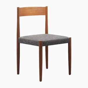 Teak & Upholstery Dining Chairs, 1960s, Set of 4