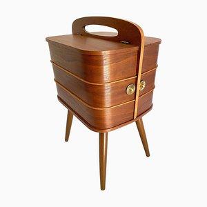 Vintage Danish Teak Plywood Storage Box, 1960s