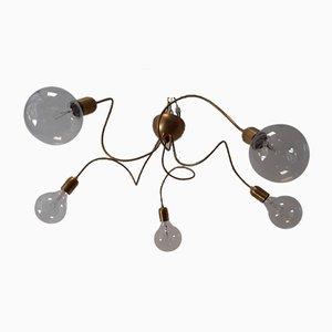 Vintage Adjustable Brass Ceiling Lamp