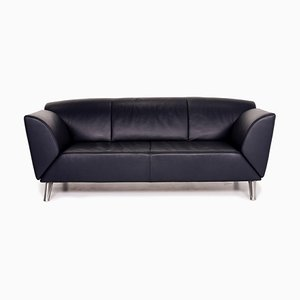 Dark Blue Leather 3-Seat Function Sofa from Jori