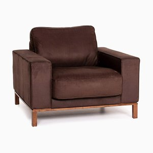 Dark Brown Fabric Armchair from Musterring