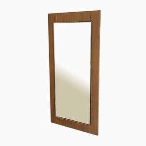 Mid-Century Wall Mirror with Wooden Frame, 1970s