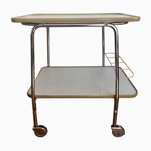 Mid-Century Chrome Serving Trolley with Removable Trays, 1950s