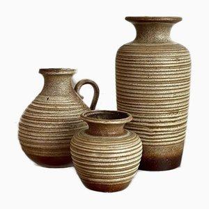 Keramik Vasen von Scheurich, 1950er, 3er Set