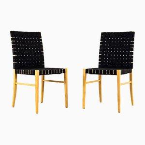 Moderne skandinavische Esszimmerstühle, 1990er, 9er Set