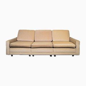Mid-Century Rainbow Velvet 3-Arm Seater Sofa, 1970s