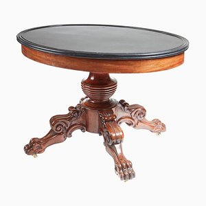Antique Oval Marble Top Gueridon Centre Table, 1820s