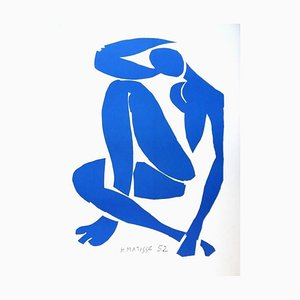 Sitting Blue Nude after Henri Matisse