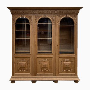 Large Antique French Oak Bookcase or Cabinet