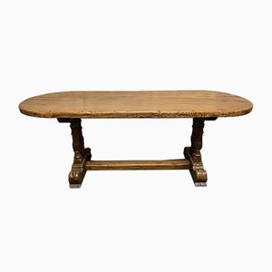 Large Antique French Oak Farmhouse Refectory Dining Table