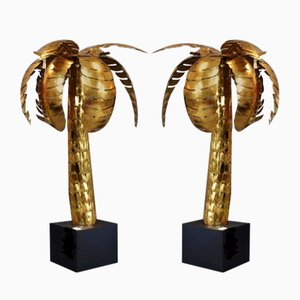 Metal Palm Trees in the Style of Maison Jansen, 1970s, Set of 2