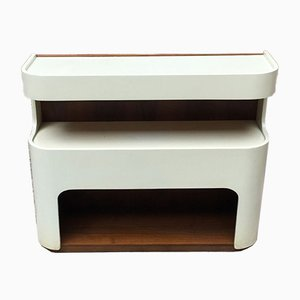 Space Age Italian Enameled Wood Hall Console Table, 1970s