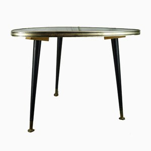 German Glass and Wood Side Table, 1950s