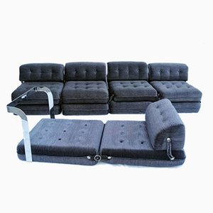 Italian Armchair Sofas & Chaise Lounge, 1960s, Set of 5