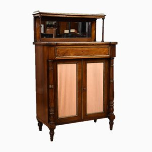 Antique Regency Rosewood and Brass Inlaid Chiffonier