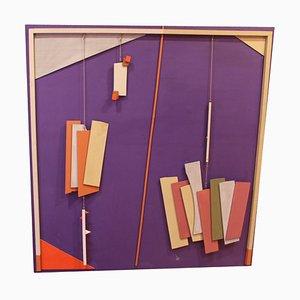 Abstraktes Ölgemälde von Fernando Picenni, 1979