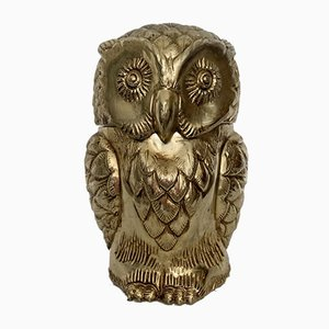 Seau à Glace Gold Owl Mid-Century par Mauro Manetti, 1960s