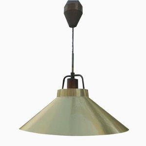 Lampada da soffitto P295 vintage regolabile in ottone di Fritz Schlegel per Lyfa