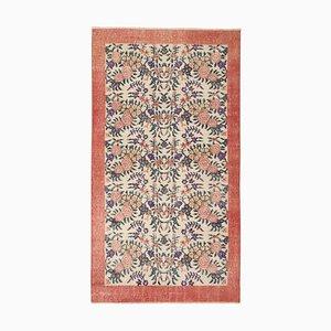 Türkischer Vintage Sparta Floraler Teppich, 1970er