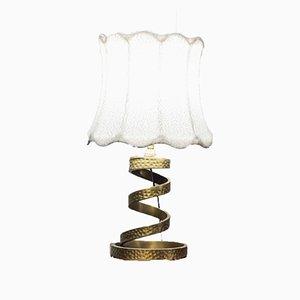 Lampada da tavolo vintage in ottone di Luciano Frigerio, anni '70