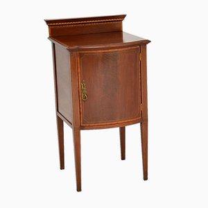 Table de Chevet Édouardienne Antique en Acajou Marqueté
