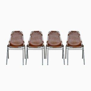 Chaises de Salon Les Arcs Vintage Tubulaire par Charlotte Perriand, 1960s, Set de 4