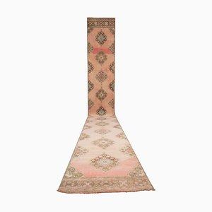 Vintage Turkish Soft Muted Color Runner Rug, 1970s