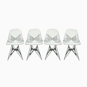 Mid-Century DKR Bikini Dining Chairs by Charles & Ray Eames for Herman Miller, Set of 4