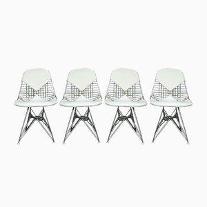 Mid-Century DKR Bikini Esszimmerstühle von Charles & Ray Eames für Herman Miller, 4er Set