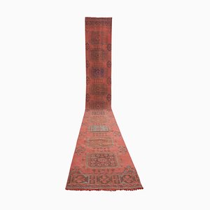 Vintage Neoclassical Style Turkish Oushak Runner Rug, 1970s