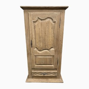 Antique French Bleached Oak Armoire or Hall Cupboard