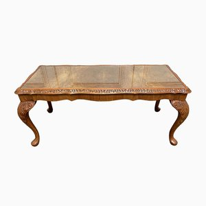 Burr Walnut and Glass Top Coffee Table, 1920s