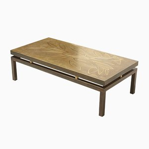 Etched Brass Coffee Table, 1970s