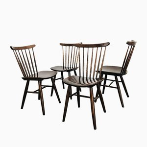 Mid-Century Czechoslovakian Dining Chairs from Drevounia, 1950s, Set of 4