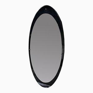 Großer Ovaler Vintage Spiegel, 1950er