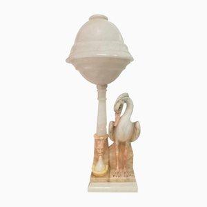 Alabaster Lampe, 1930er
